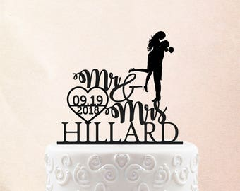Personalized Wedding Cake Topper Mr and Mrs Last Name Customized Cake Topper Last Name Customized Wedding Cake Topper Groom Bride Topper  3