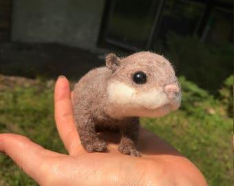 Needle Felted Baby Otter