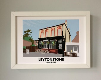 Leytonstone North Star A3 Print