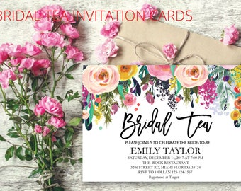 Bridal Tea Party Invitation, Suplime Bridal Tea Invite Template,  Suplime Bridal Tea Bridal Tea, Bridal Tea Party, INSTANT DOWNLOAD, BR-S07