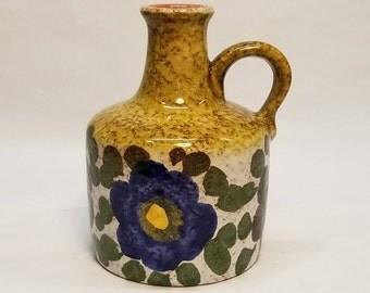 Vintage 1960-70s MAREI Keramik 4300 Spring Jug Vase Pitcher W. German Pottery Fat Lava Vase Era