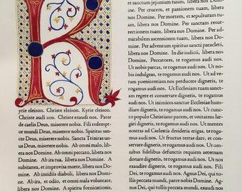 Illuminated Letterpress Kyrie Eleison