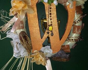 Letter W wreath