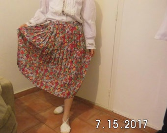 Pleated skirt floral summer / S 60
