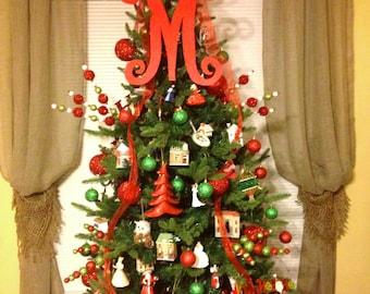 Christmas Tree Topper, Monogram Christmas Tree Letter, Letter for Christmas Tree, Christmas Decor, Holiday Decor, Winter Decor