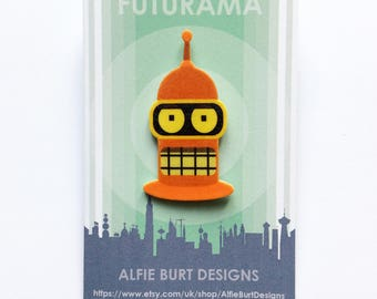 Futurama Golden Bender Pin Badge