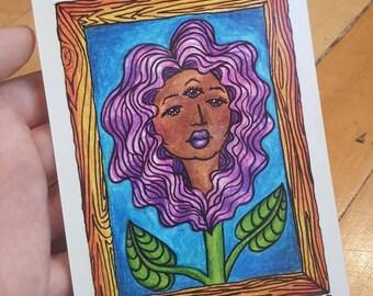 """Lizzy Anthus 4""""x5"""" Print"""