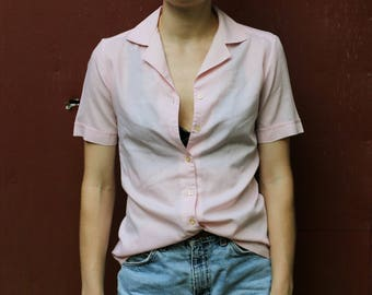 Vintage Delta Short Sleeve Button Top