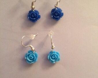 Handmade cute flower rose earringd