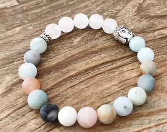 Amazonite Stretch Buddha Bracelet