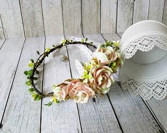 Flower wreath wedding communion flower wreath headband