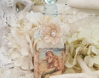Vintage Mermaid Bath Salts Bottle