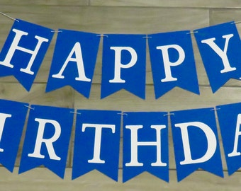 Birthday Banner, Happy Birthday Banner, Custom Color Birthday Banner