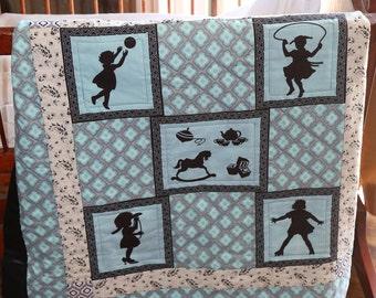 Buy Quilt get Bib Thru March 25th, Girl Quilt, Baby Girl Quilt