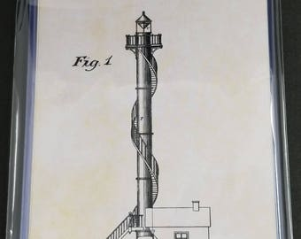 Lighthouses Patent Art Prints Set