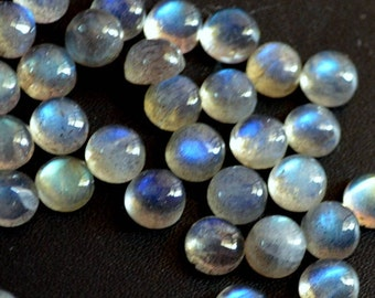 Natural labradorite cabochon round loose gemstone 5 mm AAA Quality
