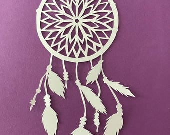 Dream catcher Kirigami customizable and easy to frame