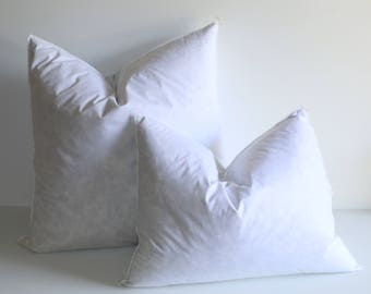 "28x28"" Down Pillow Inserts / High Quality White Goose Feather Pillow Inserts / Pillow Insert / Plump Full Pillow Forms / Extra Plump Inserts"