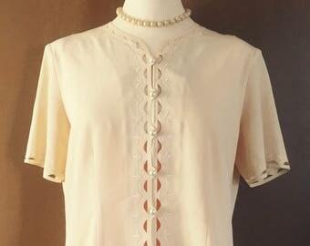 Gérard Pasquier vintage 1960's short sleeve blouse