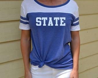 SDSU, South Dakota State University, College, Jackrabbits, Jacks, Brookings, Go Big Go Blue, SDSU Shirt, Vintage College Shirt