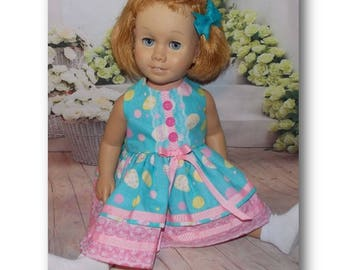 "Chatty Cathy sized clothes. Pink & Blue Easter Dress and Hair Bow. Fits dolls like the 20"" tall Chatty Cathy doll."