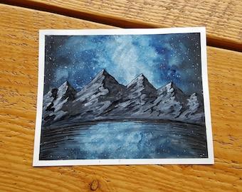 Blue Lake Mountain - Print