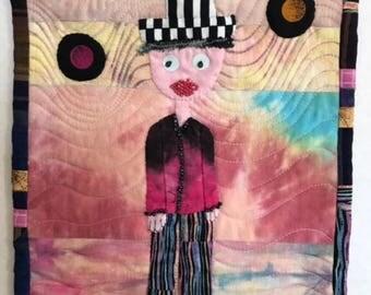Mr. Rose (Fiber Art)