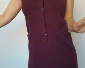 Dress / Dallas / plum / vintage / Made in France