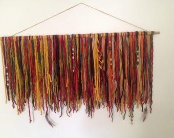 custom gypsy yarn wall hanging