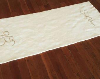 Kundalini Yoga Mat Felted Wool - Sat Nam