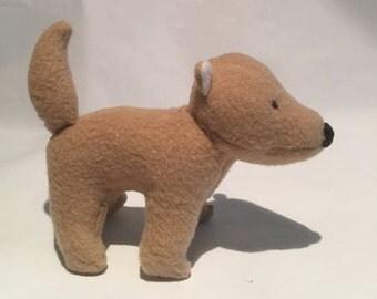 Tan Wolf Plush--READY TO SHIP Brown Dog Fox Toy Softie