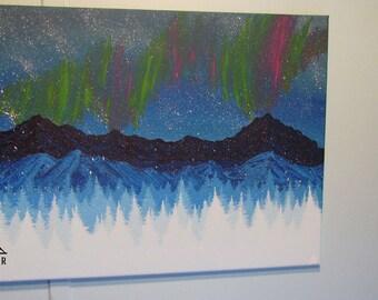"Northern Sky - Original 12"" x 16"" Acrylic on Canvas"