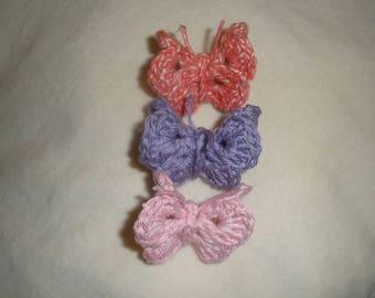 Set three mini Butterfly 3 d