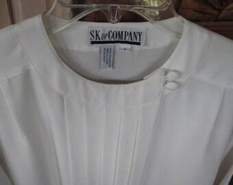 S & K Vintage Career Blouse, Size 6