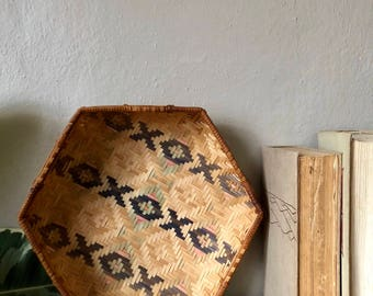 Hexagon Basket for Wall Hanging/ Catch all