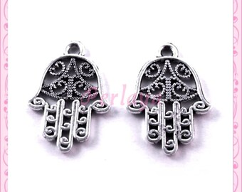 Set of 15 charms REF1094X3 silver hands