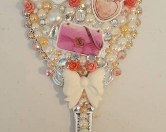 Peachy Rose makeup hand held mirror