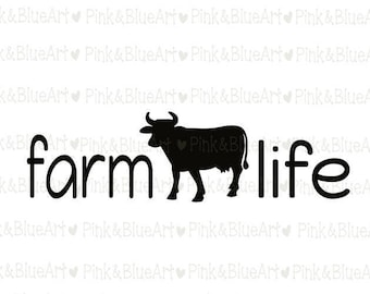 Farm Life SVG Clipart Cut Files Silhouette Cameo Svg for Cricut and Vinyl File cutting Digital cuts file DXF Png Pdf Eps