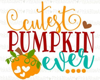 Cutest Pumpkin Ever SVG Clipart Cut Files Silhouette Cameo Svg for Cricut and Vinyl File cutting Digital cuts file DXF Png Pdf Eps