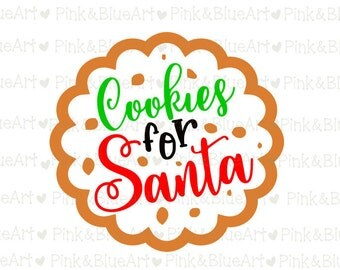 Santa SVG Cookies for Santa SVG Clipart Cut Files Silhouette Cameo Svg for Cricut and Vinyl File cutting Digital cuts file DXF Png Pdf Eps
