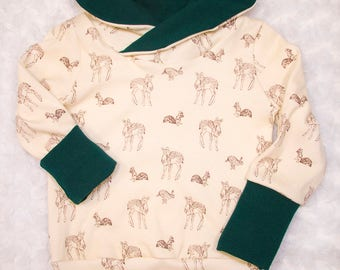 Scalable shirt 1-3 years: forest animals