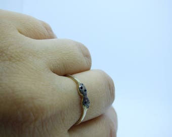 """Handcrafted, one of a kind, sterling silver combined with oxidizes sterling silver, from my """"TWIN COLLECTION"""""""