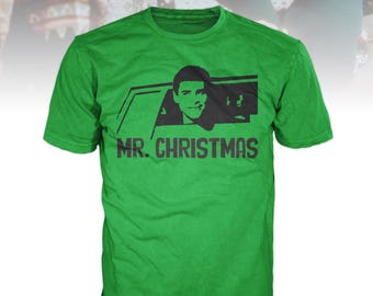 Funny Christmas T-Shirt Dumb and Dumber Mr. Christmas Green Ugly Sweater Design Red Gift Lloyd Harry Movie Santa Reindeer