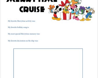 PRINTABLE Cruise Journal Merrytime Cruise Page for Kids