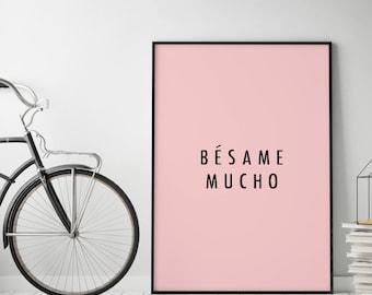 Poster: typolove - Bésame mucho