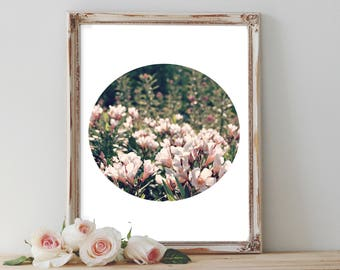 Wanderlust Flower Porthole, Minimalist large art, wanderlust 2017, hippie home decor, boho nursery decor, printables, kitchen decor, gifts