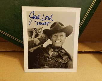 """Jack Lord - TV Star Known for """"Hawaii Five-O"""" & """"Stoney Burke"""" - Rare Autographed 4x6 Photo"""