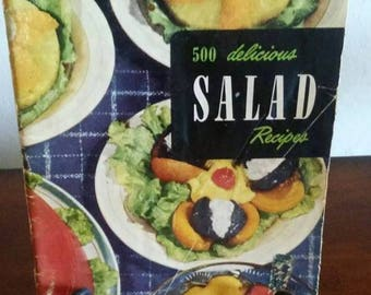 Vintage Culinary Arts Institute 500 Delicious Salads And Dressings 1950 #7 Ruth Berolzhei
