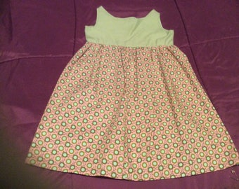 Girls Green and Pink Sundress size 3-4