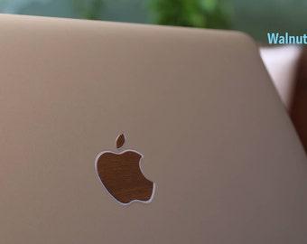 MacBook Apple Logo Wood design Adhesive Sticker   Genuine Bamboo